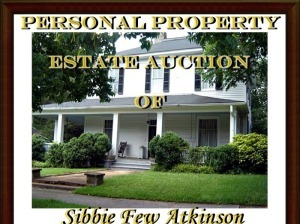 Estate of Sibbie Few Atkinson of Madison, Georgia