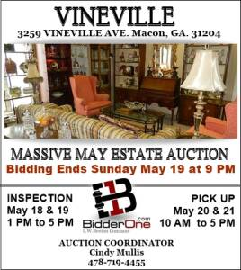 MASSIVE MAY VINEVILLE ESTATE AUCTION