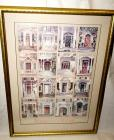FRAMED, MATTED, SIGNED, AND NUMBERED ART PRINT, DOORWAYS OF MACON, STERLING EVERETT