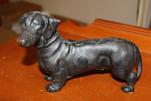 Cast Iron Dachshund Dog Door Wedge UD