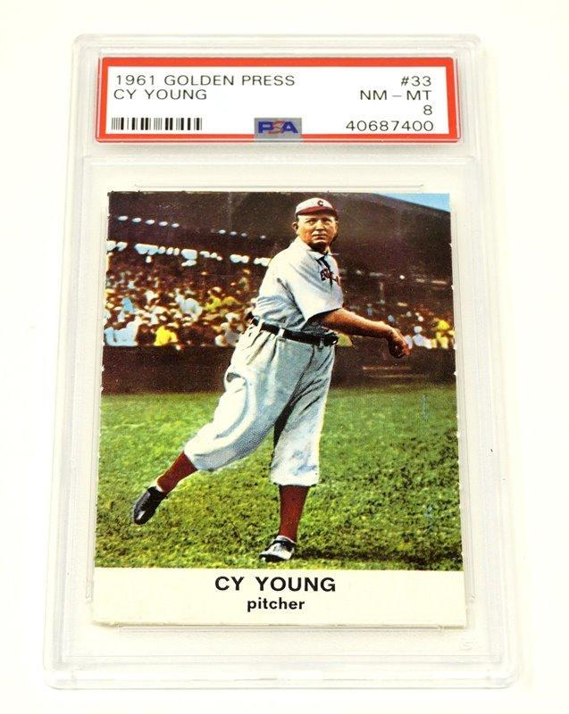1961 Golden Press Cy Young Baseball Card Graded Nm Mt 8