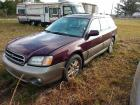 01 SUBARU OUTBACK . HAS SOME RUST . 5 SPEED.HAS MOTOR AND TRANSMISSION. DOES HAVE TRANSMISSION ISSUES. catalytic converters are missing.