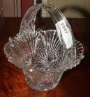 IMPERIAL CRYSTAL BASKET, MADE IN SLOVAKIA