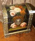 HAND-PAINTED TREASURE CHEST STYLE BOX