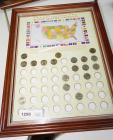 FRAMED 50 STATE QUARTER COLLECTION, SOME COINS INCLUDED