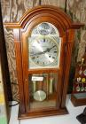 VINTAGE WALTHAM 31-DAY CHIME PENDULUM CLOCK WITH KEY