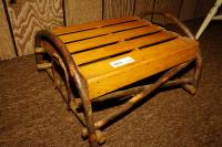 PRIMITIVE TWIG AND SLAT FOOTSTOOL