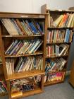 2 Book Shelves and Contents - See Pics for Details.