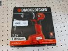 IN BOX BLACK AND DECKER VARIABLE SPEED DRILL . BATTERY INCLUDED