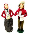 PAIR OF BUYERS' CHOICE LIMITED THE CAROLERS FIGURINES, 1987