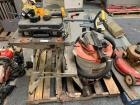 RANDOM TOOL LOT WITH RIGID WET DRY VAC AND WORK BENCH WITH DEWALT DRILL AND BATTERY WITH CHARGER