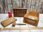 SET OF VINTAGE WOODEN PIECES