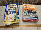 SET OF 2 WORLD SERIES CEREAL BOXES .1987 AND 1991. THE1987 IS UNOPENED