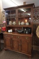 VINTAGE 2-PIECE BUFFET WITH CHINA / CURIO HUTCH