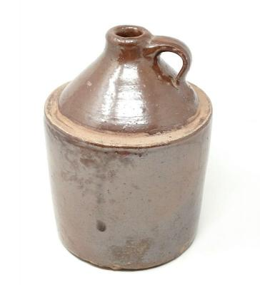 ANTIQUE POTTERY CROCK WHISKEY JUG