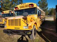 2003 BLUE BIRD BUS, 34 FT LONG,72 PASSENGER,SELLER STATES RUNS AND DRIVES,MISSING ROOF VENT COVER,BODY NUMBER L053195,DOOR GLASS CRACKED