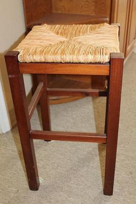 STOOL WITH RUSH SEAT