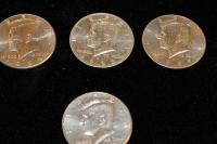 LOT OF 4 LIBERTY HALF DOLLARS 1994 1996 1999 TO 2001