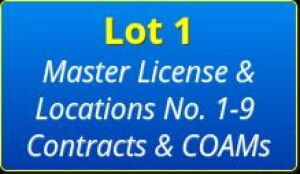 Lot 1 Master License & Locations No. 1-9 Contracts & COAMs ONLY!