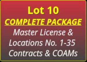 Complete Package - Master License, Locations No. 1-35 Contracts & COAM's