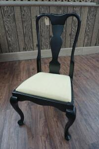 MODERN DINING SIDE CHAIR WITH CABRIOLE LEGS