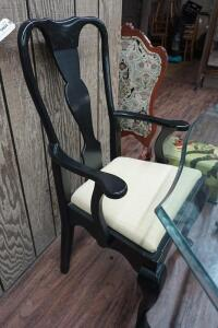 MODERN DINING ARMCHAIR WITH CABRIOLE LEGS