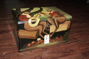 CUTE MONKEY MOTIF CHEST / BOX AND CONTENTS