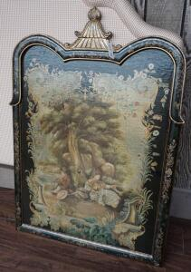 ORNATE DECORATIVE FRAMED AND PAINTED WALL PANEL