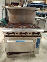 IMPERIAL 6 BURNER CONVECTION OVEN COMBO