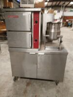 BLODGETT DOUBLE CABINET STEAMER WITH TILT KETTLE.GAS AND ELECTRIC