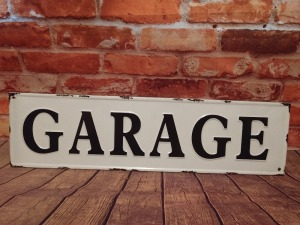 GARAGE 8 IN X 30 IN METAL WALL ART