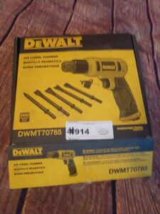 DeWalt brand air chisel hammer, with accessories