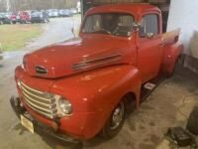 1948 FORD F1, 4 SPEED,VIN 8A87HC74951,ODOMETER;83,681  COLOR RED, EXTRA PARTS IN BED BATTERY, TRANSMISSION ETC. TROPHIES COME WITH TRUCK, VERY NICE FULL RESTORATION. HAS ONLY BEEN USED AS A PARADE VEHICLE SINCE RESTORATION.