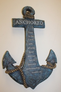 DECORATIVE WALL ANCHOR WITH PROVERBS 3:5