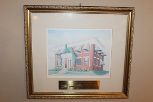 FRAMED WATERCOLOR PRINT OF THE MACON HOSPITAL