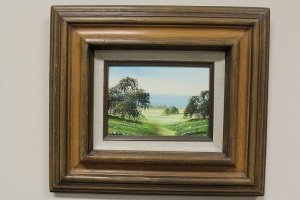 SMALL FRAMED PAINTING ON BOARD SIGNED