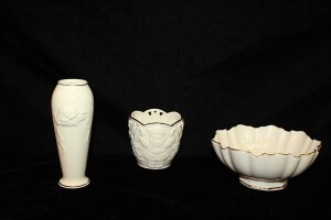 THREE PIECES OF LENOX / BOWLS AND VASE