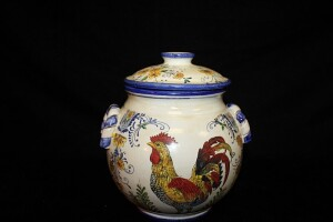 VINTAGE ROOSTER COVERED CANISTER