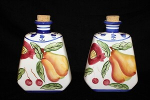 LOT OF 2 DECORATIVE DECANTERS
