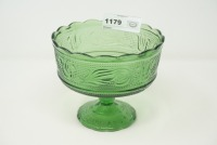 VINTAGE BRODY PRESSED GLASS LARGE COMPOTE