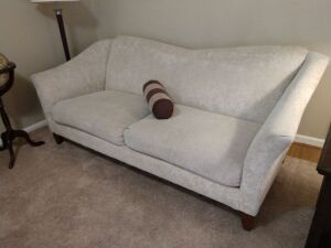 Beautiful Contemporary Sofa, Approx 7 ft,Double Cushion,Solid Wooden Feet