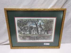 18 X 23 CHRIST CHURCH MATTED FRAMED ARTWORK