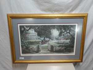 29 X 44 MATTED FRAMED ARTWORK, LIMITED PRINT BY STAN STRICKLAND, IS NUMBERED TO 225 OF 950