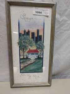 8 X 15 GEORGIA ON MY MIND FRAMED ARTWORK BY D MORGAN
