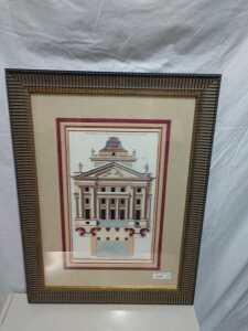 24 BY 32 MATTED FRAMED FRENCH ARTWORK, VERY NICE, BEAUTIFUL FRAME