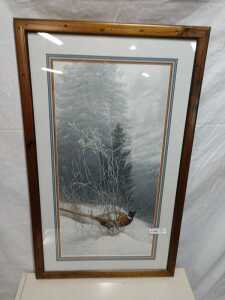 23 BY 38 MATTED FRAMED ARTWORK BYE STEPHEN LYMAN, IS SIGNED, NUMBERED 431 OF 1500