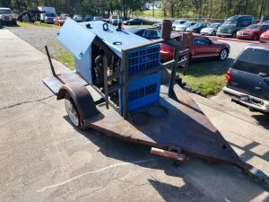 Located At The L.W.Benton Office.MILLER WELDER ON HOME MADE TRAILER,DIESEL ENGINE, HOURS 2147, ENGINE WILL SPIN BUT HAVE NOT STARTED IT.BEING SOLD WITH COURT ORDER