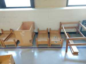 lunch room.SET OF 6 CHILD FURNITURE, DOLL BED