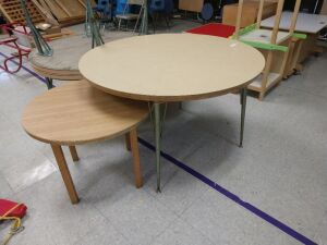 lunch room.SET OF 3 ROUND LUNCH OR PROJECT TABLES