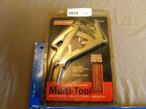 CRAFTSMAN LOCKING 10 FUNCTION MULTI TOOL WITH SHEATH, STILL IN ORIGINAL PACKAGE
